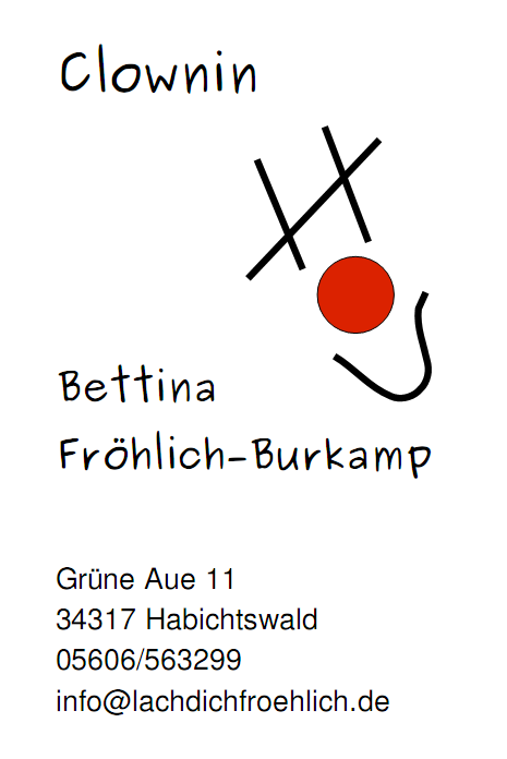 Clownin Bettina Fröhlich-Burkamp